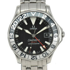 OMEGA Seamaster GMT Date black Dial SS Automatic Men's Watch O#96010