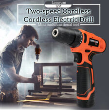 Lomvum Multifunctional 12V Two-Speed Rechargeable Cordless Electric Drill Tool