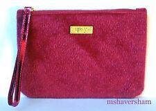IPSY Carpe P.M. December 2016 Makeup Glam Bag Pink Faux Fur Gold Cosmetic Case