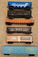 Lot of 6 HO Rolling Stock-BoxCar/Hopper/gondola