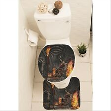 Ghost Skull Set of 3 Bathroom Rug Set Mat Toilet Lid Cover y70 y0181