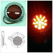 1X Red 16 LED Tail Light 12V-24V Round Back-up Reverse Lamp For Truck Trailer RV