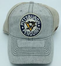 NHL Pittsburgh Penguins CCM Tweed & Half Mesh Flex Fit Cap Hat Beanie NEW!