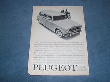 """1960 Peugeot 408 Station Wagon Vintage Ad """"...87 cu. ft. of Usable Space"""""""