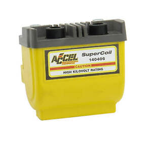 Accel 140406 SUPER COIL-POINTS Ignition Coil, Dual Fire, 4.7 Ohms Resistance