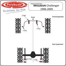Polybush veicolo Bush Set Per Mitsubishi Challenger, PA, 1996-2005: Kit81