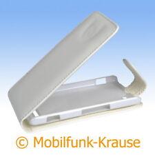 Flip Case Etui Handytasche Tasche Hülle f. Sony Xperia M (Weiß)