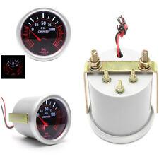 2inch 52mm Car LED Turbo Fuel Oil Pressure Gauge Meter Red Illuminated Display