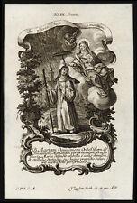 santino incisione 1700 S.MARIA DI OIGNIES   klauber