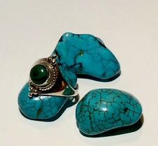 Vintage Artisan Made Malachite 925 Sterling Silver Braided Tiara Ring Sz 5.25 3g