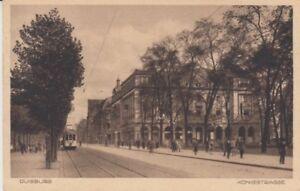 Ansichtskarte Nordrhein Westfalen Diusburg Königstrasse Straßenbahn 1931