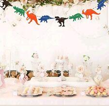 Dinosaur Happy Birthday Banner Party Supplies Fossil Jurassic T Rex Decor Gift J