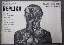 Jozef Szajna - Replika - Poster Teatr Studio Warszava Polska Exhibition