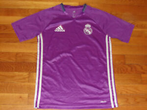 ADIDAS CLIMACOOL REAL MADRID SOCCER JERSEY GIRLS MEDIUM 10-12 EXCELLENT COND.
