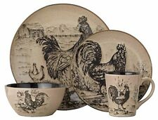 Dinnerware Set Sets Pfaltzgraff 16 Pc Dishes Stoneware Better Rooster Farmhouse