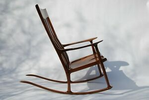 Rocking Chair inspired by Sam Maloof / handcrafted / Walnut Furniture