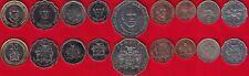 Jamaica set of 9 coins: 1 cent - 20 dollars 1987-2006 UNC