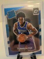 De'Aaron Fox 2018-19 Panini Optic Rated Rookie #196 Sacramento Kings