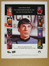 1998 Mr. Spock photo Star Trek Movie Collection promo vintage print Ad