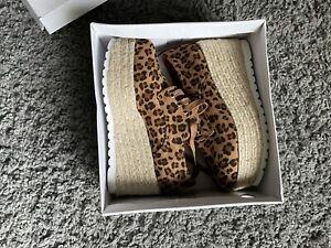 Platform Leopard Print Shoes Size 4