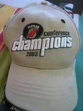 NEW JERSEY DEVILS New Era NHL Tan Baseball Cap/ Hat 2003 CUP Hockey Sold AS-IS