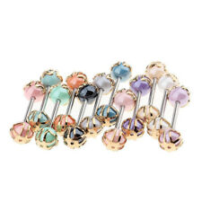 12pcs Tongue Nipple Bar Ring Barbell Body Jewelry Piercing Multi-Color Ball