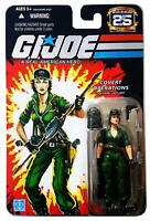 "GI Joe Hasbro 25th Anniversary 3.75"" Figure MOC Covert Operation Lady Jaye"