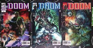 Doom #1-3 2000 Marvel Full Complete Set Fantastic Four Chuck Dixon Manco