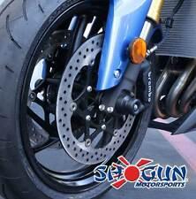 Yamaha 2015-17 YZF-R3 Shogun Front Axle Sliders / Spools - Black