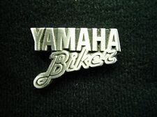 YAMAHA BIKER Pewter Lapel Pin Badge