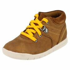 Leather Upper Boots Laces Wide Shoes for Boys