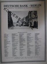 Deutsche Bank Berlin + Niederlassungen Große Werbeanzeige anno 1926 Reklame