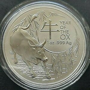 2021,Silver 1oz,Lunar R.A.M.Year of the Ox Coin with fast free shipping