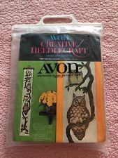 Avon Creative Needlecraft Crewel Embroidery Kit Tree Owls Wall Hanging New