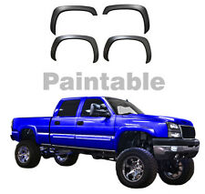 Chevy Fender Flares Set of 4 Paintable Matte Black OE Style for 99-06