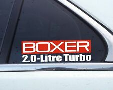 Boxer 2.0-Litre Turbo sticker for Subaru Legazy, Impreza , Forester 2.0 Turbo