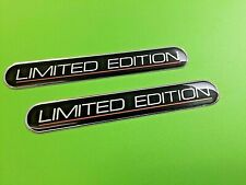 LIMITED EDITION STICKERS X 2 HIGH GLOSS DOMED GEL FINISH BLACK AND CHROME 110mm
