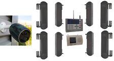 Wireless GSM Perimeter Alarm - 4 Beams Sets, GSM Dialler & 1 x Battery 4G Camera