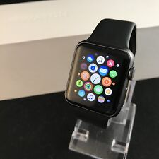 Apple Watch (iWatch) 38mm Space Grey Aluminium Black Sport Band **FREE DELIVERY*