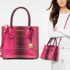 18d27503748a NWT 💕 Michael Kors Mercer Medium Messenger Embossed Leather Tote Bag Ultra  Pink