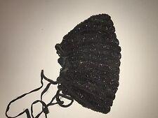 Multicolor Beads on Black Base Drawstring Purse Handbag