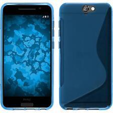 Funda de silicona HTC One A9 S-Style - azul + protector de pantalla