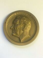 Lyndon Baines Johnson Inaugural Medal Bronze January 20th, 1965