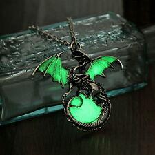 Dragon Pendant Glow in the Dark Luminous Amulet Necklace Fantasy