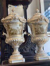 Wunderschöne Porzellan Vasen Dresden Mit Verschiedenen Ansichten 55cm Hoch