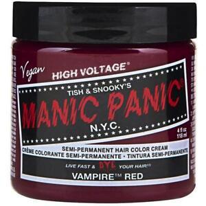 Manic Panic Semi-Permanent Hair Color Cream, Vampire Red 4 oz