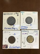 Lot Of 4 German Empire Third Reich Nazi Germany Swastika Coins