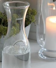 LITRE 35OZ SHABBY CHIC FRENCH GLASS WINE WATER JUICE CARAFE DECANTER WEDDING