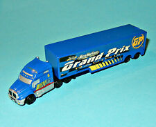 MICRO MACHINES - SEMI TRUCK F1 GRAND PRIX RACE HAULER blue Team - box car