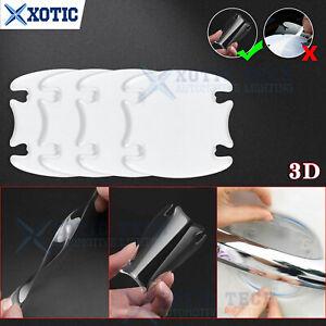 4Pcs Door Handle Bowl Paint Protector 3D Clear Sticker Sheet For Dodge 2000-2021